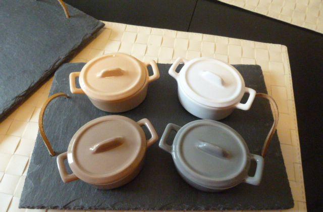 plateaux en ardoise pour mini-cocottes