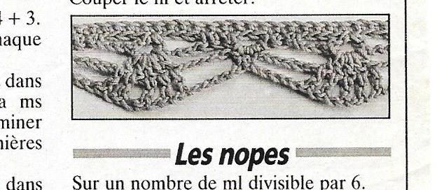 crochet : les bordures à l'ancienne