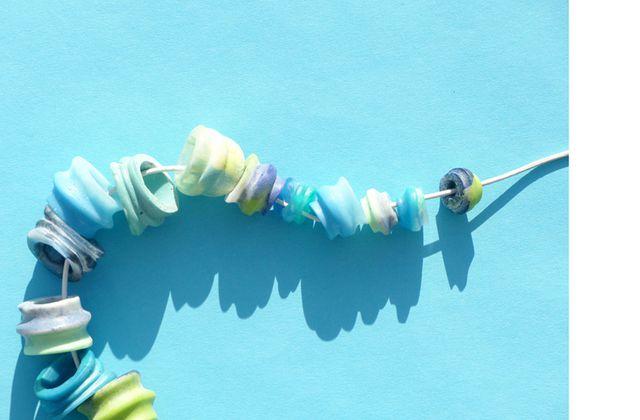 Pastelltöne-Perlenkette