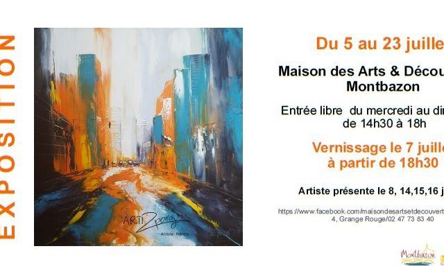 """Expo solo """"lumière et couleur"""", Maison des Arts & Découvertes Montbazon"""