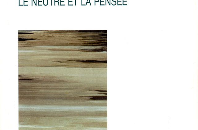 Roland Barthes et le neutre