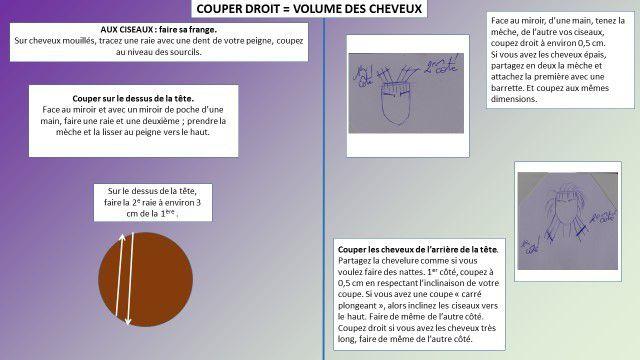 COUPER DROIT = VOLUME DES CHEVEUX