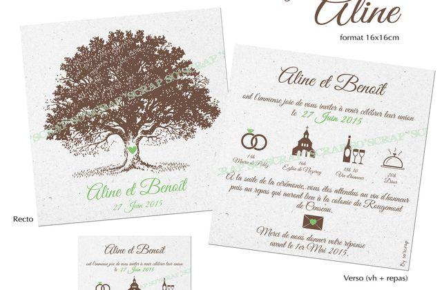 Le faire part de Mariage d'Aline et Benoît ...
