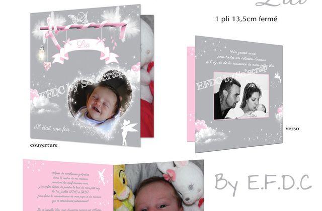 Le faire part de naissance fée clochette de al douce et petite Lia ...