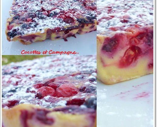 Clafoutis aux fruits rouges parfumé à l'Amaretto
