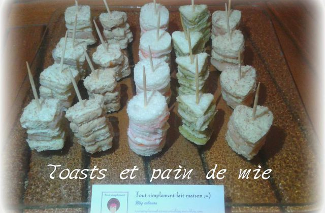 Toasts et  pain de mie