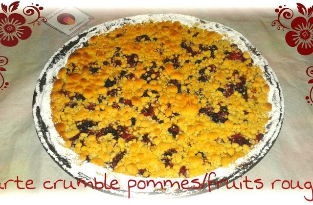 Tarte crumble pommes/fruits rouges