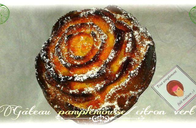 Gâteau pamplemousse/citron vert