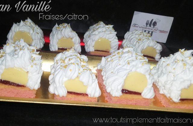 Flan Vanillé  (fraises/citron) - Recette autour d'un ingrédient #25