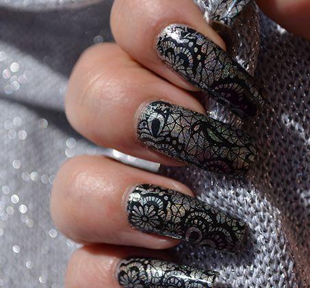 Nail Art Stamping dentelle