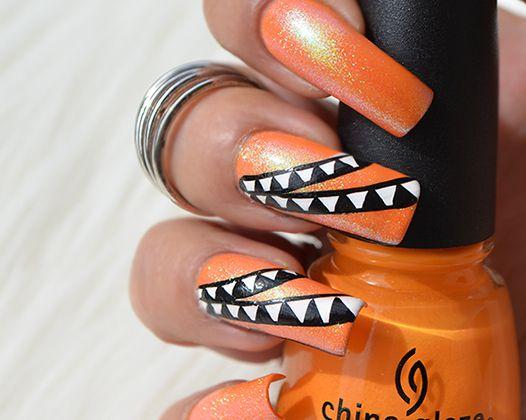 Nail Art flashy ( poudre sirène )