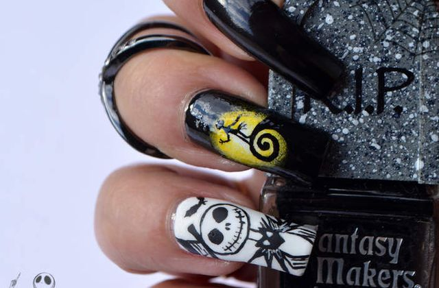 Nail Art Jack Skellington ( Halloween )