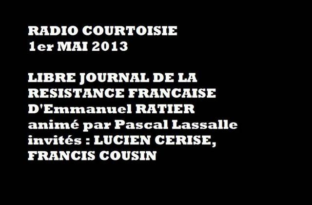 Lucien Cerise et Francis Cousin sur Radio Courtoisie