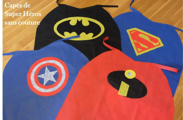Capes de Super Héros sans couture ✂ tuto !