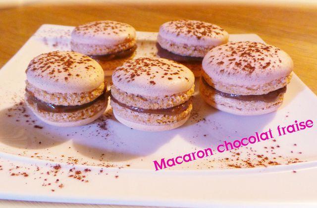 Macarons chocolat fraise