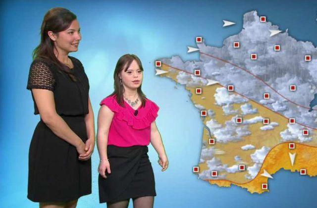 Une jeune trisomique réalise son rêve et présente la météo de France 2 (vidéo)
