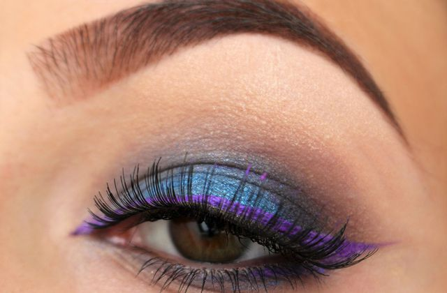 Electric Blue & Purple Liner