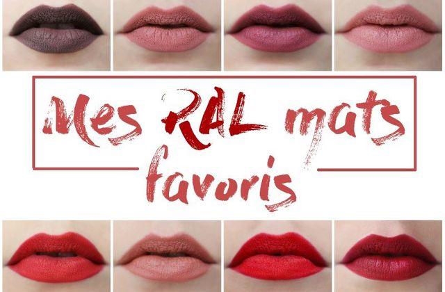 Mes Rouges à lèvres mats favoris