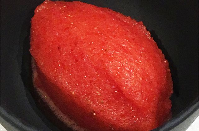 Sorbet fraise basilic minute