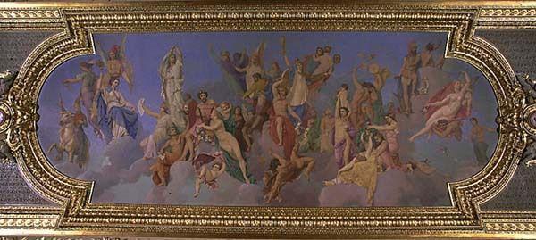 Louis Matout :On lui doit le plafond de la salle d'Auguste au  musée du Louvre