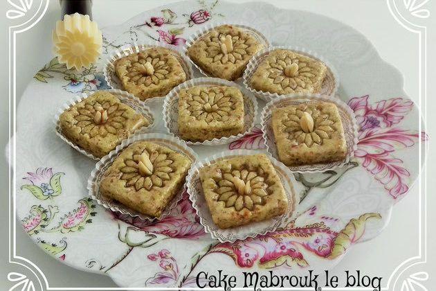 Pâtisserie orientale arachide pistache miel déco marguerite