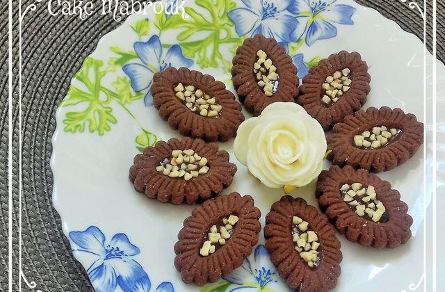 Barquettes au chocolat amandes concassées