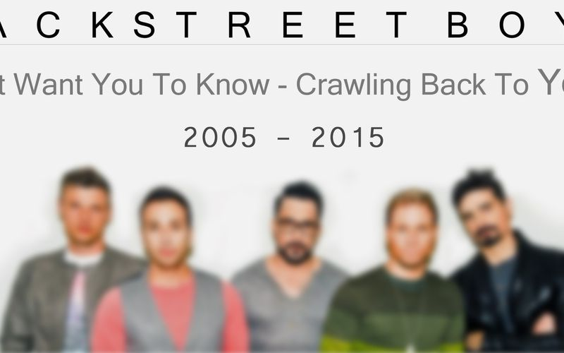 Backstreet Boys - Just Want You To Know / Crawling Back To You