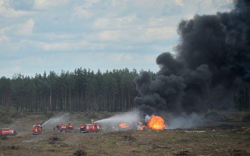 Un hélicoptère russe Mil Mi-28 s'est écrasé lors d'une démonstration aérienne