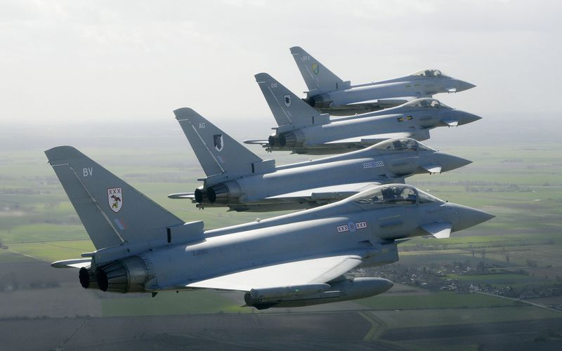 La Royal Air Force va déployer quatre Eurofighter Typhoon en Roumanie