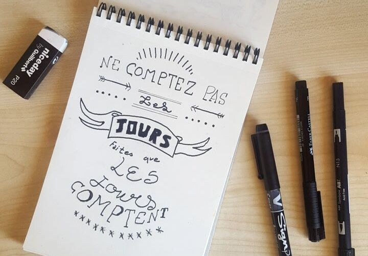 Initiation au hand lettering