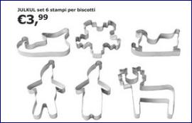 """Biscotti di Natale in """"pasta frolla"""": formine Ikea"""