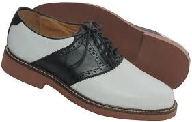 for haapy look wear saddle shoes