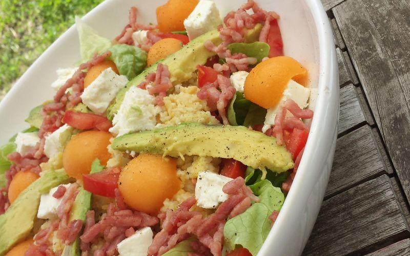 Salade complète très colorée {qui donne faim}