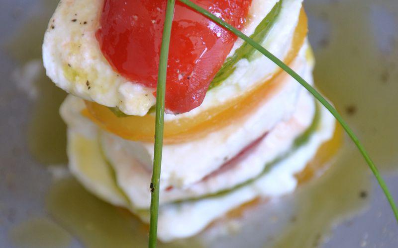 Tomates mozzarella {multicolore}