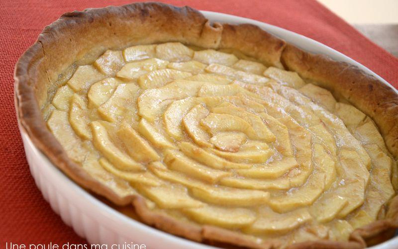 Tarte aux pommes gourmande {compote et morceaux de pommes}