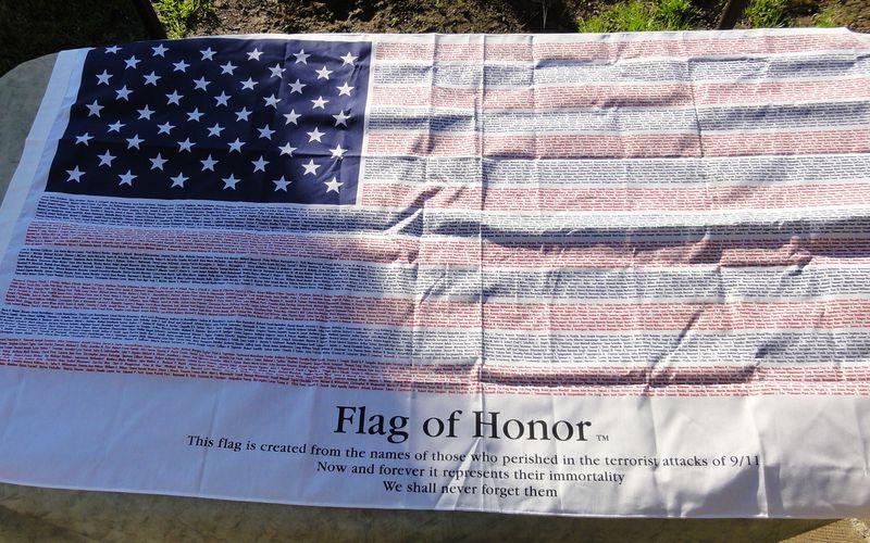 Le drapeau étoilé américain...