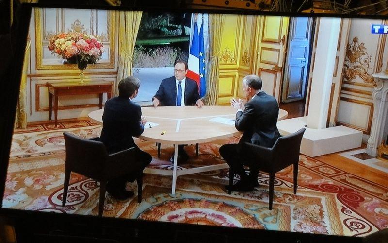 L'interview de Monsieur le Président F. Hollande.
