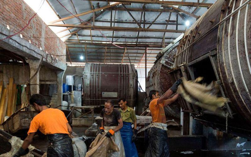 Le cuir en provenance du Bangladesh = Danger