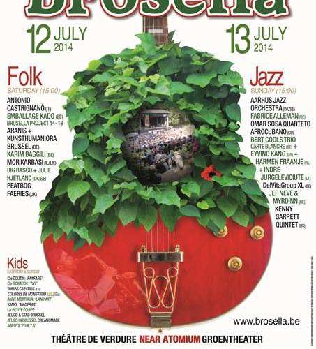 Programmation du Festival Brosela Folk & Jazz du 12 et 13 juillet 2014