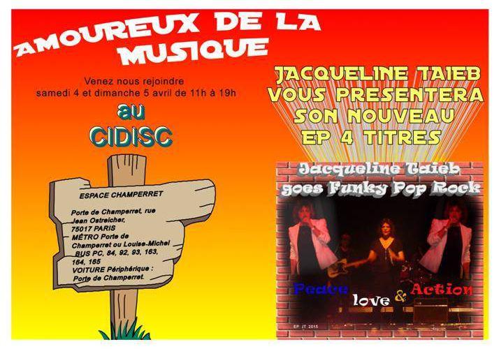 Jacqueline Taïeb goes funky pop rock, son nouveau EP 4 titres, suivis des versions karaoké.