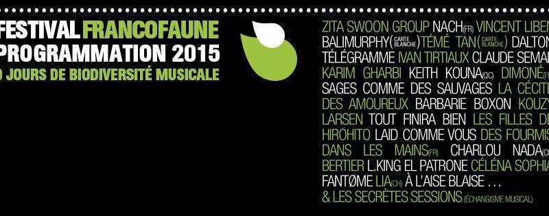 Festival FrancoFaune, pour la biodiversité musicale !