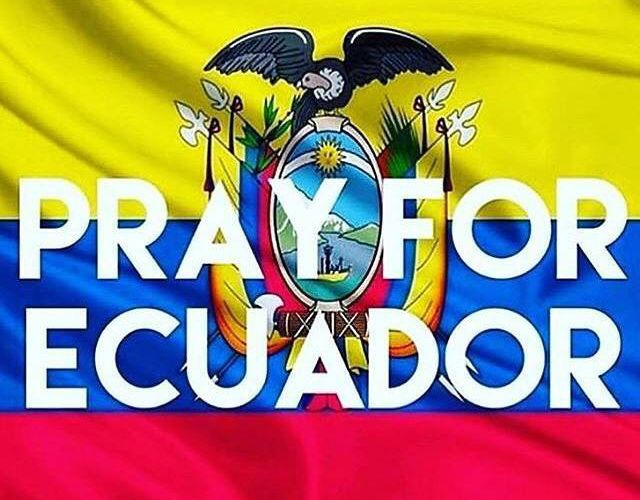 Share your support with #Ecuador.