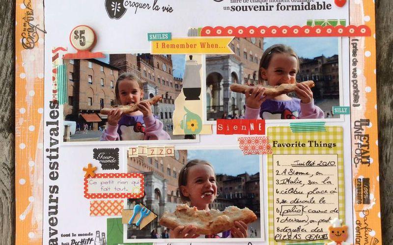 Page de scrap : Pizza géante à Sienne !
