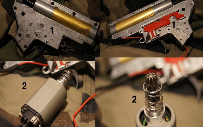 Gearbox & Moteur King Arms