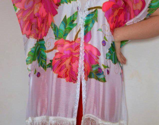 tuniques et kimonos,décorés avec la peinture