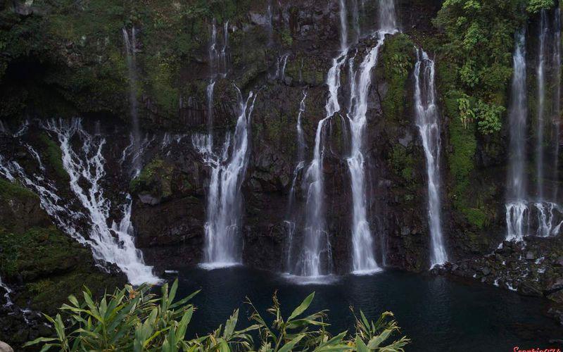 La cascade de Grand Galet, Saint Joseph
