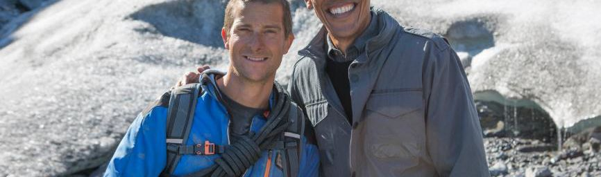"D8 diffusera ""Running Wild with Bear Grylls"" avec Barack Obama"