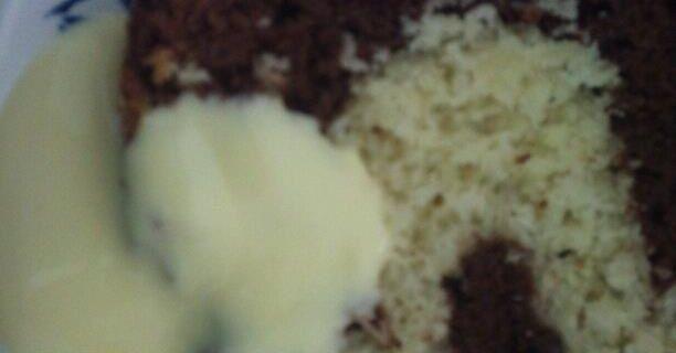 Recette 28: Cake chocolat coeur noix de coco.