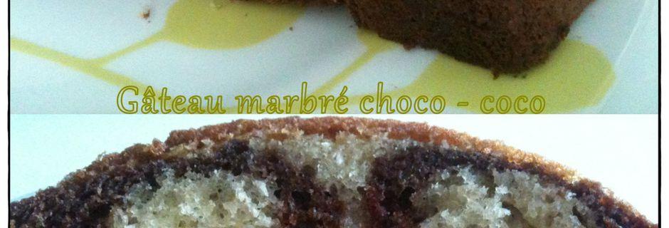 Gâteau marbré choco - coco