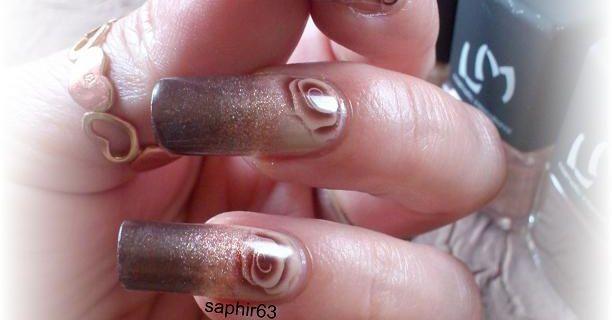 nail art rose d'automne